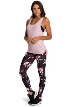 Calça legging fusô com estampa floral
